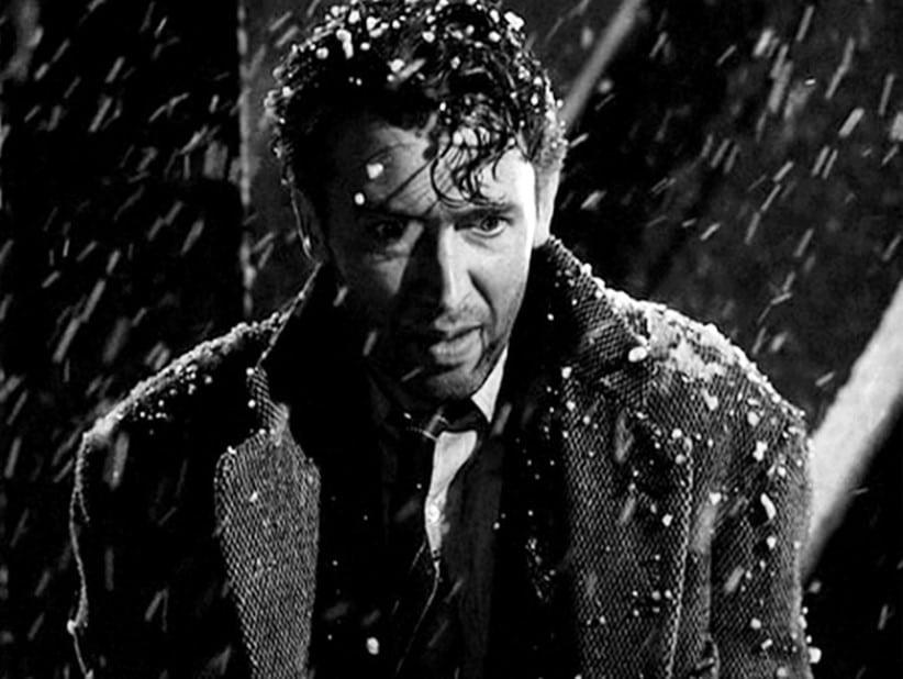 Photo de l'acteur James Stewart dans le film « It's a wonderful life »
